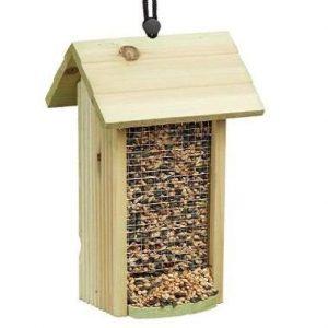Comedero para pájaros para colgar de madera Relaxdays