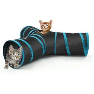 Túnel para gatos con 3 vías